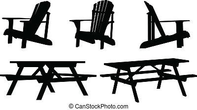 户外的家具