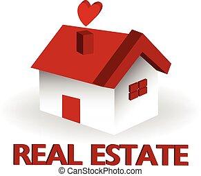 房产, 房子, 标识语, 矢量