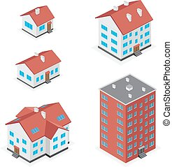 房子圖標, 集合