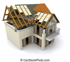 房子建造, 在下面