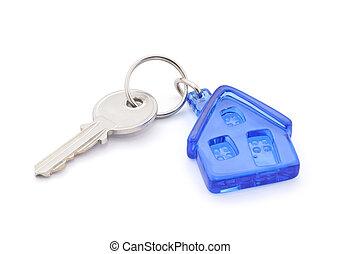 房子, 剪, 鑰匙, 路徑