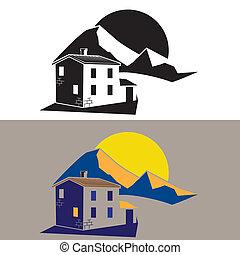 房子, 國家, 山