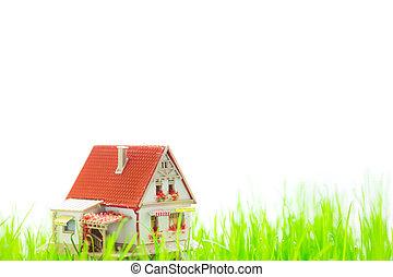 房子, 在, 春天