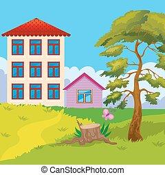 房子, 小山, 二