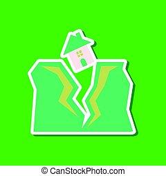 房子, 屠夫, 纸, 背景, 时尚, 地震