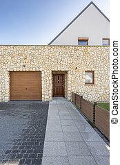 房子, 带, 砖墙