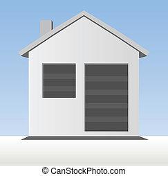 房子, 模型, 图标