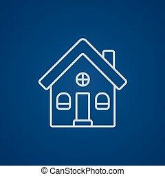 房子, 派遣, 线, icon.