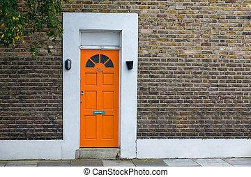 房子, 由于, 紅的門