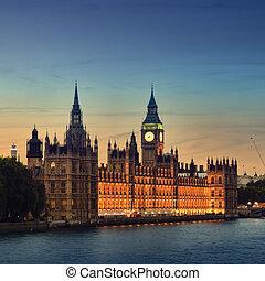 房子, ......的, parliament., london.