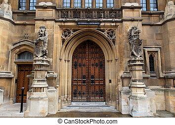 房子, ......的, parliament., london., 英國