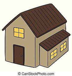 房子, 矢量