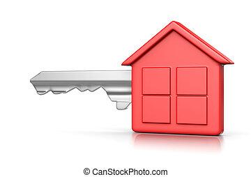 房子, 紅色, 鑰匙
