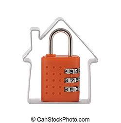 房子, 結合, 挂鎖