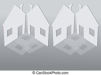 房子, 纸