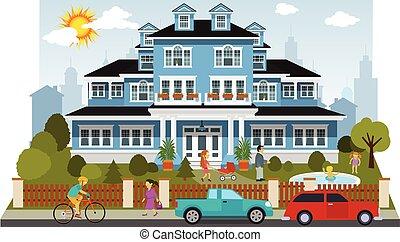 房子, 维多利亚时代的人, 家庭