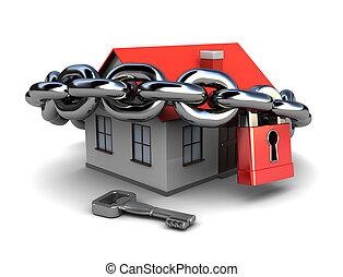房子, 被鎖