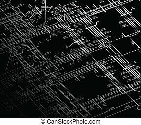 房子, 计划, 矢量, 建筑学, 背景。