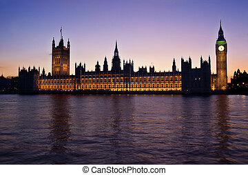 房子, 议会, 日落