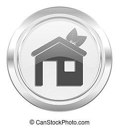 房子, 金屬, 圖象, 生態, 家, 符號