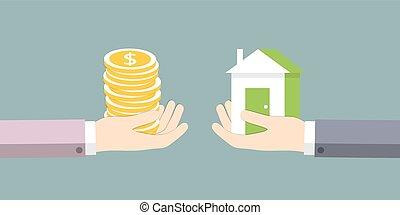 房子, 钱交换