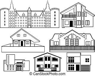 房子, 黑色半面畫像