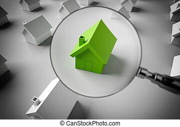房子, 3d, 提供, 看, 销售