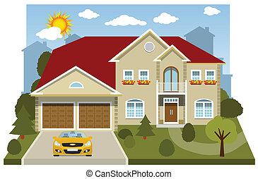 房子, (diorama), 家庭