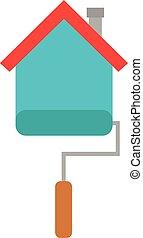 房屋绘画, 刷子, 滚筒