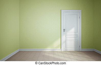 房間, 以及, 門