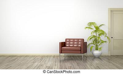 房間, 由于, an, 扶手椅子