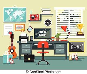 房间, 工作场所