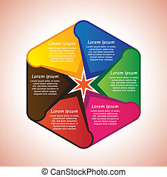 所有するため, テキスト, リプレース, 'lorem, 六角形, provided., あなたの, 抽象的, スペース...