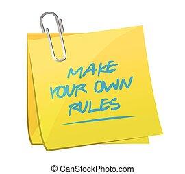 所有するため, 規則, 作りなさい, あなたの, ポスト, メモ