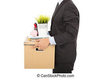所有物, ビジネスマン, 届く, 彼の, 発射される