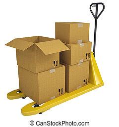 扁平工具, 箱子, 卡車