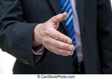 手が手を伸ばす