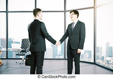 手が震える, 部屋, businesspeople