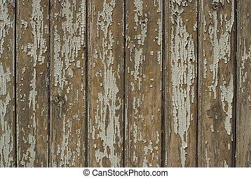 手ざわり, の, 古い, 木製の板, 背景
