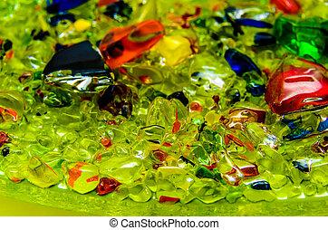 手ざわり, の, 小さい, 有色人種, ガラス