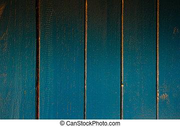 手ざわり, の, 青, 木製である, 背景