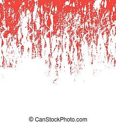 手ざわり, グランジ, 赤い背景