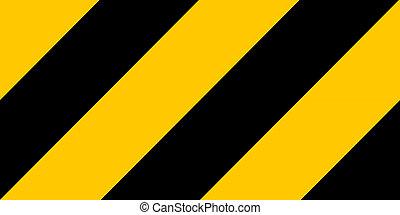 手ざわり, ストライプ, 危険, 警告, 黒, 黄色