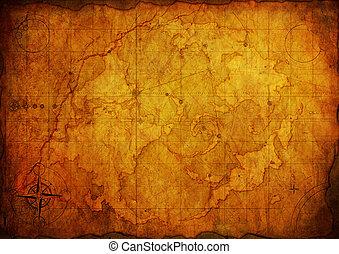 手ざわり, ペーパー, 古い, 古代, map.