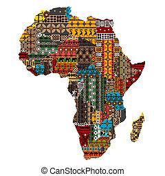 手ざわり, 地図, 作られた, 国, アフリカ, 民族
