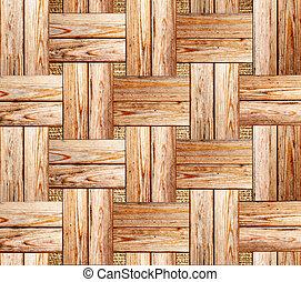 手ざわり, 寄せ木張りの床