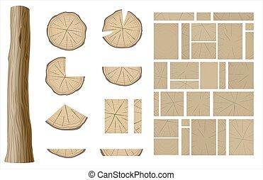 手ざわり, 木製である, 別, セット, 1