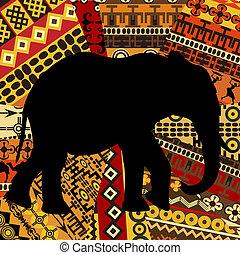 手ざわり, 民族, シルエット, 背景, 象