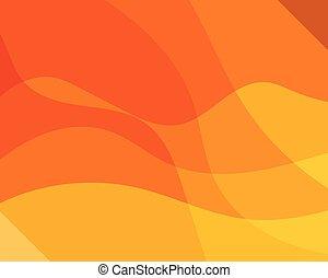 手ざわり, 背景, 動的, オレンジ