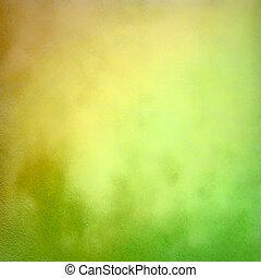 手ざわり, 背景, 抽象的, グランジ, 緑